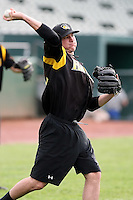 June 13th 2008:  Pitcher Jarrod Parker of the South Bend Silver Hawks, Class-A affiliate of the Arizona Diamondbacks, during a game at Stanley Coveleski Regional Stadium in South Bend, IN.  Photo by:  Mike Janes/Four Seam Images