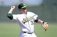 Oakland Athletics third baseman Ryon Healy (30) during an instructional league game against the San Francisco Giants on September 27, 2013 at Papago Park Baseball Complex in Phoenix, Arizona.  (Mike Janes/Four Seam Images)