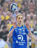 Handball Champions League Frauen 2013/14 - Handballclub Leipzig (HCL) gegen Metz (FRA) am 10.11.2013 in Leipzig (Sachsen). <br /> IM BILD: Susann Müller / Mueller (HCL) <br /> Foto: Christian Nitsche / aif