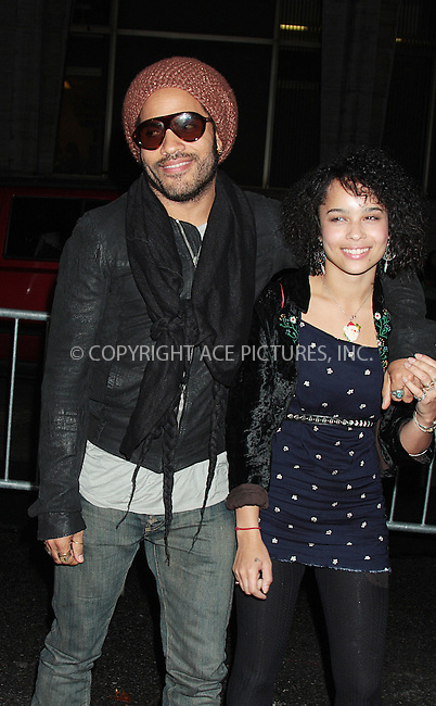 WWW.ACEPIXS.COM . . . . .  ....October 3 2009, New York City....Lenny Kravitz and Zoe Kravitz arriving at the 2009 New York Film Festival's screening of 'Precious' at Alice Tully Hall on October 3, 2009 in New York City.....Please byline: AJ Sokalner - ACEPIXS.COM.... *** ***..Ace Pictures, Inc:  ..(212) 243-8787 or (646) 769 0430..e-mail: picturedesk@acepixs.com..web: http://www.acepixs.com