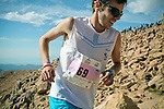 August 19, 2017 - Colorado Springs, Colorado, U.S. -  Spain's, Jan Margarit Sole, nears the summit on his way to a fifth place finish in the 62nd running of the Pikes Peak Ascent.  The Ascent is a full half-marathon gaining over 7800 feet in elevation to reach the summit at 14,115 feet.  Mountain runners from around the world converge on Pikes Peak for two days of racing on America's Mountain in Colorado Springs, Colorado.