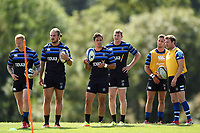 Bath Rugby players look on. Bath Rugby pre-season training on August 8, 2018 at Farleigh House in Bath, England. Photo by: Patrick Khachfe / Onside Images