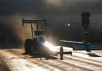 Oct 11, 2019; Concord, NC, USA; NHRA top fuel driver Antron Brown during qualifying for the Carolina Nationals at zMax Dragway. Mandatory Credit: Mark J. Rebilas-USA TODAY Sports