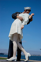 The statue of Unconditional Surrender, also known as The Kiss, by Seward Johnson