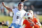 CARY, NC - NOVEMBER 19: North Carolina's Abby Elinsky. The University of North Carolina Tar Heels hosted the Princeton University Tigers on November 19, 2017 at Koka Booth Stadium in Cary, NC in an NCAA Division I Women's Soccer Tournament Third Round game. Princeton won 2-1 in sudden death overtime.
