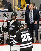 Conor MacPhee (PC - 29), Brian Pinho (PC - 26), Nate Leaman (PC - Head Coach) - The Boston University Terriers tied the visiting Providence College Friars 2-2 on Saturday, December 3, 2016, at Agganis Arena in Boston, Massachusetts.