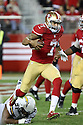 20 December 2014: San Francisco 49ers Quarterback Colin Kaepernick rushing for a 90 yard touchdown during a 38-35 overtime loss to the San Diego Chargers at Levi's Stadium in Santa Clara, Ca.