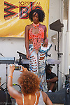 Model walk in a Stay by Stacey Angela outfit by during Harlem Week 2017 at 135th Street and St. Nicholas Avenue in New York City on August 19, 2017. A model walks in a Stay by Stacey Angela outfit by during Harlem Week 2017 at 135th Street and St. Nicholas Avenue in New York City on August 19, 2017.