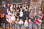BABY JOY: Proud parents Lisa Horan and Pawel Rzasa, Castleisland (seated centre) of little Anna who was Christening in St Stephen's and St John's Church, Castleisland by Monsieur Dan Riordan and celebrated afterwards with family and friends at O'Riada's restaurant and bar, Ballynmac on Saturday.