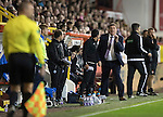 Aberdeen v St Johnstone&hellip;22.09.16.. Pittodrie..  Betfred Cup<br />Tommy Wright reacts as David Wotherspoon&rsquo;s goal is ruled offside<br />Picture by Graeme Hart.<br />Copyright Perthshire Picture Agency<br />Tel: 01738 623350  Mobile: 07990 594431