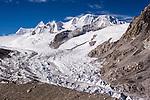 Himalayan peaks in Tibet near Mount Cho Oyu