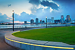 Recently developed Crescent Park on the banks of the Mississippi River in New Orleans.