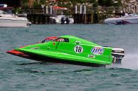 26  July, 2009, Trenton, Michigan USA.Jason Nelson (#18) races Chris Whensler (#16).©2009 F.Peirce Williams USA.zc
