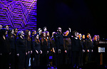 Judith Clurman and Choir performing at the Dramatists Guild Foundation toast to Stephen Schwartz with a 70th Birthday Celebration Concert at The Hudson Theatre on April 23, 2018 in New York City.