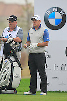 Paul McGinley (IRL) on the 6th tee during Saturay's Round 3 of the 2014 BMW Masters held at Lake Malaren, Shanghai, China. 1st November 2014.<br /> Picture: Eoin Clarke www.golffile.ie