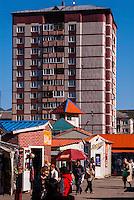 Russia, Sakhalin, Yuzhno-Sakhalinsk. A local market.