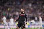 Lorenzo Insigne of SSC Napoli celebrates during the match Real Madrid vs Napoli, part of the 2016-17 UEFA Champions League Round of 16 at the Santiago Bernabeu Stadium on 15 February 2017 in Madrid, Spain. Photo by Diego Gonzalez Souto / Power Sport Images