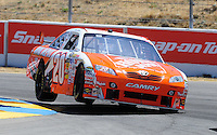 Jun. 21, 2009; Sonoma, CA, USA; NASCAR Sprint Cup Series driver Joey Logano during the SaveMart 350 at Infineon Raceway. Mandatory Credit: Mark J. Rebilas-