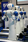 Yasakwa Robots during a demonstration at the International Robot Exhibition in Tokyo on November 27, 2009. 200 robot companies and institutes exhibit their latest robot technologies during a four-day exhibition (photo Laurent Benchana/Nippon News).