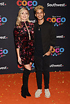 LOS ANGELES, CA - NOVEMBER 08: Dancer Lindsay Arnold (L) and dancer/actor Jordan Fisher arrive at the premiere of Disney Pixar's 'Coco' at El Capitan Theatre on November 8, 2017 in Los Angeles, California.