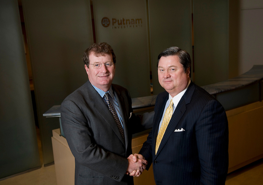 BOSTON, MA.--Putnam Investment's CEO Bob Reynolds, right,  and newly hired CIO Walter Donovan in the Boston headquarters. PHOTO BY JODI HILTON FOR PUTNAM