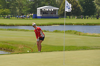 Charley Hull (ENG) chips on to 18 during round 4 of the 2018 KPMG Women's PGA Championship, Kemper Lakes Golf Club, at Kildeer, Illinois, USA. 7/1/2018.<br /> Picture: Golffile | Ken Murray<br /> <br /> All photo usage must carry mandatory copyright credit (&copy; Golffile | Ken Murray)