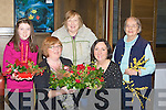 DISPLAY: Showing off their display of Flowers at the Tralee Flower & Gardan Gala Christmas Demonstration in aid of Cyptic Fibrosis in the Grand Hotel, Tralee on Monday night, l-r: Emily and Mary O'Callaghan (Abbeydorney), Joy Fitzell(Camp), Bernadette Scanlon(demonstrator) and Mary Spillane (Tralee)..................... ..........
