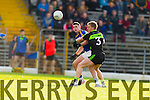 Paul Geaney Kerry in action against Kevin Keane Mayo in the first round of the National Football League at Fitzgerald Stadium Killarney on Sunday.