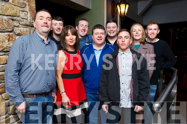 Staff from Lee Strand enjoying their Xmas party in the Rose Hotel on Saturday night. L-R Charles O'Connor, Michael Madden, Denise Fogarty, James Daly, John O'Brian, Chris O'Lee, Chris Power, Margaret Daly and David Maloney