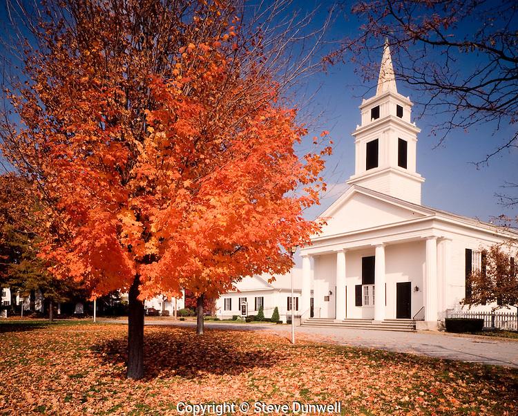 ROV-315  Church on green, Slatersville, RI