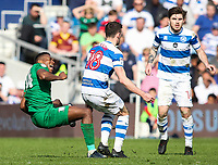 Preston North End's Darnell Fisher is fouled by Queens Park Rangers' Jack Robinson<br /> <br /> Photographer Andrew Kearns/CameraSport<br /> <br /> The EFL Sky Bet Championship - Queens Park Rangers v Preston North End - Loftus Road - London<br /> <br /> World Copyright &copy; 2018 CameraSport. All rights reserved. 43 Linden Ave. Countesthorpe. Leicester. England. LE8 5PG - Tel: +44 (0) 116 277 4147 - admin@camerasport.com - www.camerasport.com