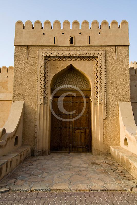 Oman, Buraimi, Al Khandaq Fort, Entrance gate