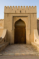 Oman, Buraimi, Al Khandaq Fort, Entrance gate