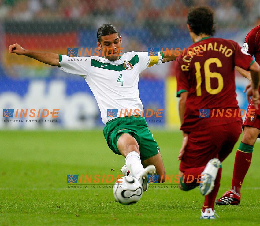 Gelsenkirchen 21/6/2006 World Cup 2006.Portogallo Messico 2/1.Photo Andrea Staccioli Insidefoto.Rafael MArquez Messico Ricardo Carvalho Portogallo