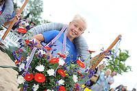FIERLJEPPEN: IJLST: 06-08-2016, FK Fierleppen Jeugd, winnares Lisse van der Knaap (IJlst) meisjes 10 en 12 jaar met 7.61m, ©foto Martin de Jong
