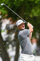 Justin Rose (GBR) hits his approach shot on 10 during round 1 of the 2019 Charles Schwab Challenge, Colonial Country Club, Ft. Worth, Texas,  USA. 5/23/2019.<br /> Picture: Golffile | Ken Murray<br /> <br /> All photo usage must carry mandatory copyright credit (© Golffile | Ken Murray)