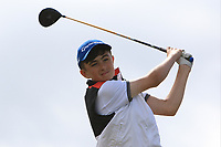 Matthew Whelan (Ennis) on the 14th tee during the Final round in the Connacht U16 Boys Open 2018 at the Gort Golf Club, Gort, Galway, Ireland on Wednesday 8th August 2018.<br /> Picture: Thos Caffrey / Golffile<br /> <br /> All photo usage must carry mandatory copyright credit (&copy; Golffile   Thos Caffrey)