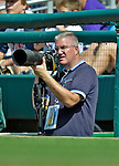 22 July 2012: Photographer Tim Cammett in action during a game between the Atlanta Braves and the Washington Nationals at Nationals Park in Washington, DC. The Braves fell to the Nationals 9-2 splitting their 4-game weekend series. Mandatory Credit: Ed Wolfstein Photo