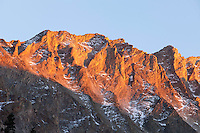 Alpenglow just east of Capitol Peak, near Snowmass, Colorado
