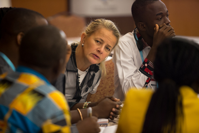 27 June, 2018, Kuala Lumpur, Malaysia : Mabel van Orange listens to participants at the The Role of Religious Leaders seminar seminar on the third day at the Girls Not Brides Global Meeting 2018 at the Kuala Lumpur Convention Centre. Picture by Graham Crouch/Girls Not Brides
