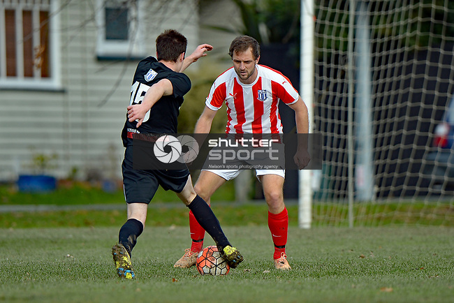 NELSON, NEW ZEALAND - JUNE 24: Football, FC Nelson Puma Magic v FC Nelson NMIT, <br /> Victory Square, June 24, 2017, Nelson, New Zealand. (Photo by: Barry Whitnall Shuttersport Limited)