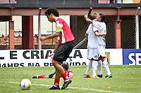 GUARULHOS,SP,06 JANEIRO 2013 - COPA SÃO PAULO JUNIOR - FLAMENGO-SP x JUVENTUS  - Alan (e)   Jogador do Juventus comemora gol durante partida Flamengo-sp X Juventus válido pela 1ºrodada da Copa são Paulo de Juniores no Estádio Antônio Soares de Oliveira em Guarulhos na tarde deste domingo (06).FOTO ALE VIANNA - BRAZIL PHOTO PRESS.