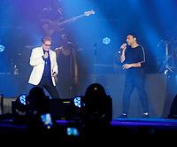 Nino D'Angelo festeggia i suoi 60 anni con un concerto nello stadio San Paolo di Napoli<br /> <br /> con Gigi Finizio