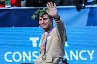 NEW YORK, NY, 06.11.2016 - MARATONA-NEW YORK -Marcel Hug da Suiça  comemora vitória na categoria cadeiras de roda durante chegada no Central Park da Maratona Internacional de New York  nos Estados Unidos neste domingo, 06. (Foto: William Volcov/Brazil Photo Press)