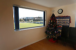 A Christmas tree in the function room at Frenchfield Park. Penrith AFC V Hebburn Town, Northern League Division One, 22nd December 2018. Penrith are the only Cumbrian team in the Northern League. All the other teams are based across the Pennines in the north east.<br />