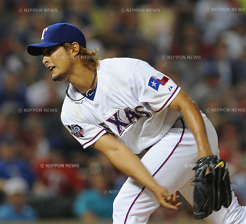 Yu Darvish (Rangers),.APRIL 9, 2012 - MLB :.Yu Darvish of the Texas Rangers pitches during the game against the Seattle Mariners at Rangers Ballpark in Arlington in Arlington, Texas, United States. (Photo by AFLO)