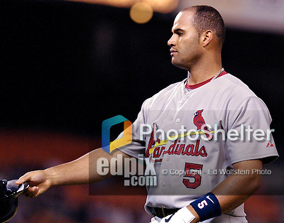 5 September 2006: Albert Pujols, first baseman for the St. Louis Cardinals, in action against the Washington Nationals. The Cardinals defeated the Nationals 2-0 at Robert F. Kennedy Memorial Stadium in Washington, DC. ..Mandatory Photo Credit: Ed Wolfstein..