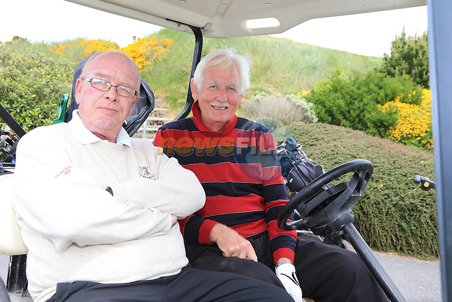 Dan Hickey and Johnny byrne<br /> at the East meath hospice golf classic in L&amp;B golf club<br /> Picture:  Fran Caffrey / www.newsfile.ie