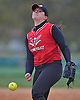 Sarah McKeveny #15, Connetquot pitcher, delivers to the plate in the bottom of the third inning of a Suffolk County varsity softball game against Lindenhurst at Daniel Street Elementary School on Thursday, May 5, 2016. Lindenhurst won by a score of 2-1.