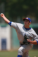 May 14 2009: Scott Hodsdon of the Stockton Ports during game against the Inland Empire 66'ers at Arrowhead Credit Union Park in San Bernardino,CA.  Photo by Larry Goren/Four Seam Images
